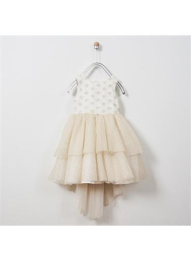 Panço Kız Çocuk Abiye Elbise 2011GK26058 Sarı